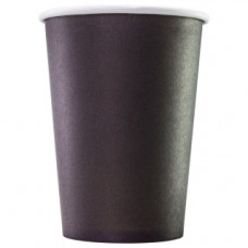 Бумажный стакан 300 мл (350 мл), черный, Э (Уп. 50 шт)