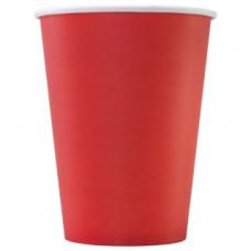 Бумажный стакан 300 мл (350 мл), красный, Ф (Уп. 50 шт)