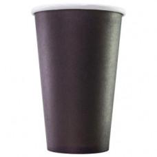Бумажный стакан 480 мл, черный , М (Уп. 50 шт)