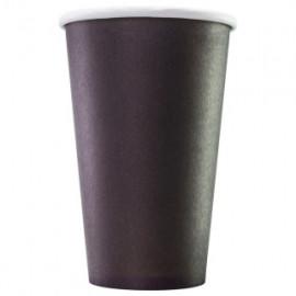 Бумажный стакан 400 мл (480 мл), черный, Э (Уп. 25 шт)