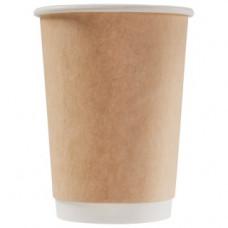 Бумажный стакан 300 мл (350 мл), двухслойный Крафт Ф (Уп. 25 шт)