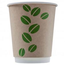"""Бумажный стакан 300 мл (350 мл), """"Coffee Bean"""" , Ф (Уп. 25 шт)"""