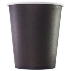 Бумажный стакан 250 мл (280 мл), черный, Ф (Уп. 75 шт)