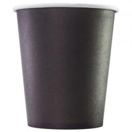 Черный бумажный стакан 250 мл (280 мл), Э (Уп. 50 шт)