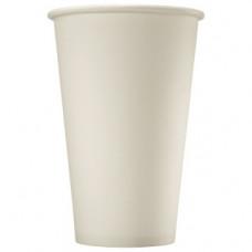 Бумажный стакан 300 мл (380 мл), белый, Э (Уп. 50 шт)