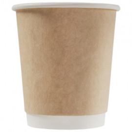 Бумажный стакан 250 мл (280 мл), двухслойный Крафт Ф (Уп. 25 шт)