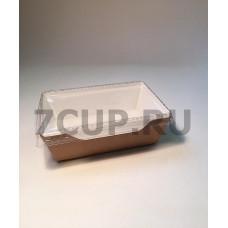 Контейнер картонный с прозрачной крышкой 500 мл (ECO OPSALAD 500)