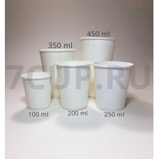 Бумажный стакан 180мл. (205), Ф (Туба 80 шт)