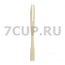"Пика для канапе бамбуковая ""Два зуба"" 90 мм по 100 шт/уп"