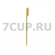 """Деревянная пика """"Гольф"""" 120 мм (Уп.100 шт)"""