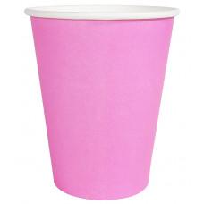 Бумажный стакан 300 мл (350 мл), розовый, Ф (Уп. 50 шт)
