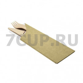 Конверт бумажный для палочек и столовых приборов 180×60мм (50 шт/уп)