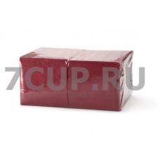 Салфетки бордовые 24*24 см (400 шт. в упаковке)