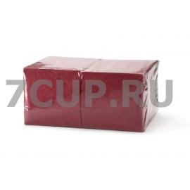Салфетки бордовые 24*24 см (Уп. 400 шт)