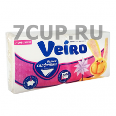 "Салфетки Veiro ""Однослойные 24*24 см"", 200 шт"
