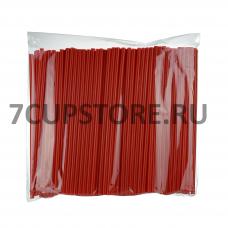 Трубочки для коктейлей без изгиба, пластиковые, красные, 24 см, диаметр 8 мм, 250 штук в упаковке