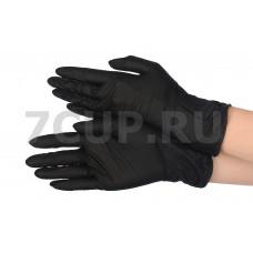 Перчатки нитриловые черные L *100шт