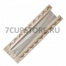 Пакет бумажный коричневый для багета 100*50*495(50) колоски