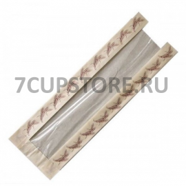 Пакет бумажный коричневый для багета 100*50*495(Уп. 50 шт) колоски