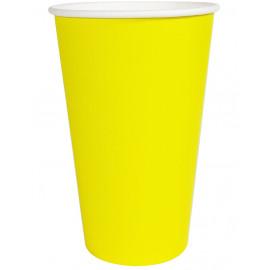 Бумажный стакан 400 мл (480 мл), желтый (Уп. 50 шт)