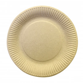 Бумажная тарелка  180 мм, крафт