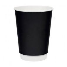 Бумажный стакан 250 мл (280 мл), двухслойный черный Э (Уп. 20 шт)