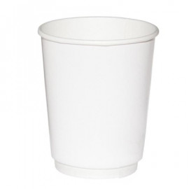 Бумажный стакан 400 мл (480 мл), двухслойный белый Э (Уп. 20 шт)