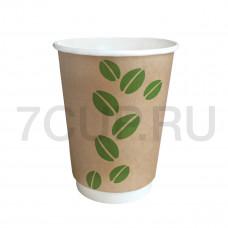 """Бумажный стакан 300, """"Coffee Bean""""  , Ф (Туба 25 шт)"""
