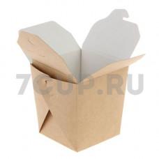 Коробка для лапши склеенная, 700 мл, крафт (500 шт. в упаковке, бумага)