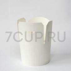 Коробка для китайской лапши 450мл Белая