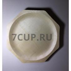 Деревянная ромбовидная тарелка 260*22 мм (Уп. 50 шт)