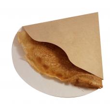 Уголок картонный  бело-бурый маленький для блинчиков (Уп. 50шт)