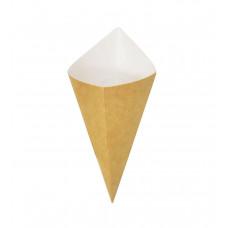 Рожок (Кулёк) бумажный для снеков 185мм