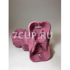 Бумажные подстаканники на два стакана, Розовый