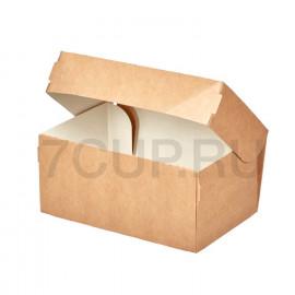 Крафт коробка для пирожного купить дешево в розницу и оптом.