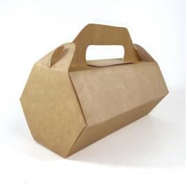 """Коробка шестигранная для хот-дога с ручкой """"Ласка"""", 20 см"""