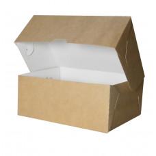 Коробка для пирожных сборная,  бур/бел, 170*140*50 мм