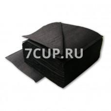 Салфетки черные 24*24 см (400 шт. в упаковке)