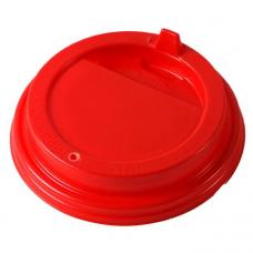 Крышка глянцевая красная 80 мм, КШ (Уп. 100 шт)