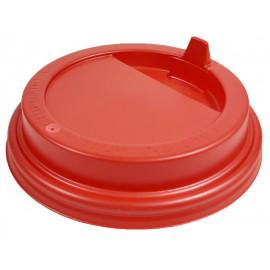 Крышка красная 80 мм для стакана 250 мл, Ф (Уп. 100 шт)