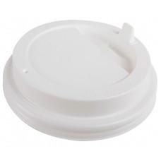 Крышка белая 80 мм для стакана 250 мл, Ф (Уп. 100 шт)