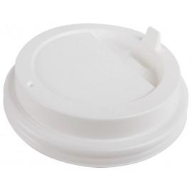 Крышка белая 90 мм для стакана 350-450 мл, Ф (Уп. 100 шт)