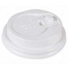 Крышка белая 63 мм для стакана 110 мл, Э (Туба 90 шт)