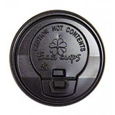 Крышка черная 80 мм для стакана 250 мл, Э (Туба 80 шт)
