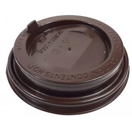 Крышка глянцевая коричневая 80 мм, КШ (Уп. 100 шт)