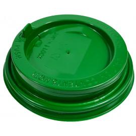 Крышка глянцевая зеленая 80 мм. (ППП)