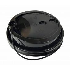 Крышка черная 90 мм с закрытым питейником (Уп. 50 шт)