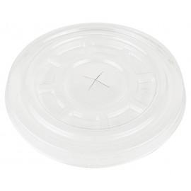Крышка для стакана d=95 мм, плоская С ОТВЕРСТИЕМ «PULSAR», (Уп. 50 шт)