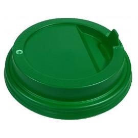 Крышка зеленая 80 мм для стакана 250 мл, Ф (Уп. 100 шт)