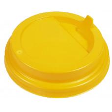 Крышка желтая 90 мм для стакана 350-450 мл, Ф (Уп. 100 шт)